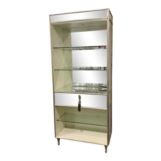Caracole Modern Glam Mirrored Etagere For Sale