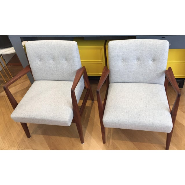 Vintage Mid Century Jens Risom Lounge Chairs- a Pair For Sale - Image 9 of 12