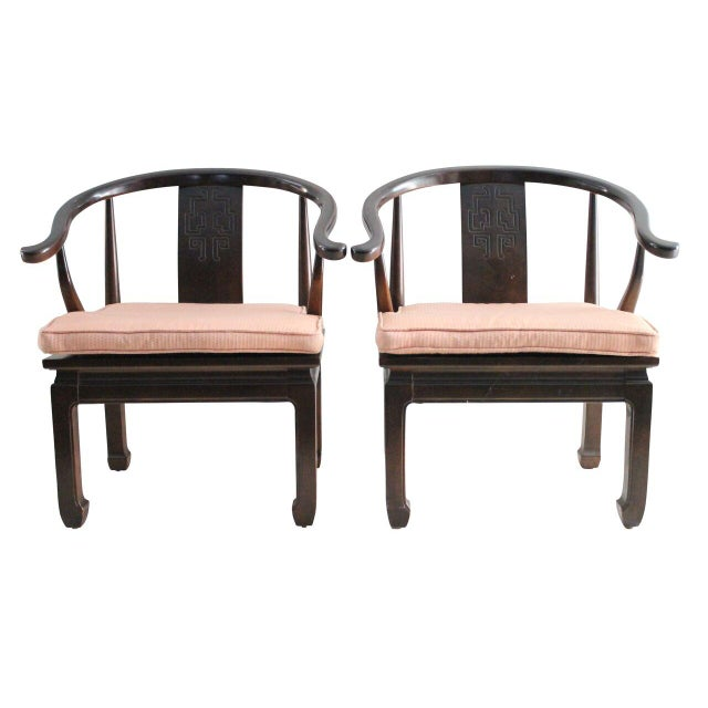 Chinoiserie Mahogany Armchairs - Pair - Image 1 of 2