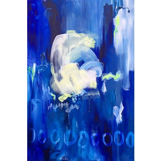 """""""Body Conscious"""" Abstract Blue Painting For Sale"""
