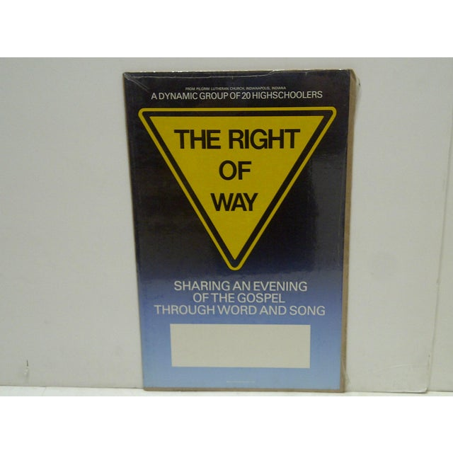 Americana C. 1980 The Right of Way Gospel Lutheran Church Poster For Sale - Image 3 of 5