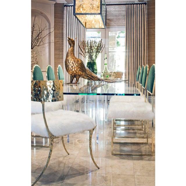 Metal Aqua Brass Klismos Chair by Sylvan Sf For Sale - Image 7 of 9
