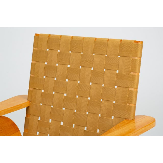 Bauhaus-Style Maple Lounge Chair With Nylon Webbed Seat For Sale - Image 10 of 12