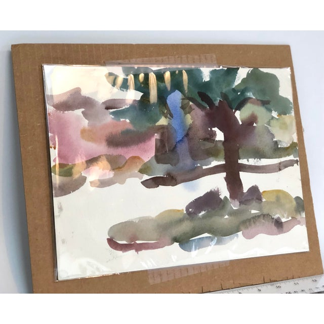 """Victor DI Gesu Mid Century """"Carmel Landscape"""" Painting For Sale - Image 4 of 10"""