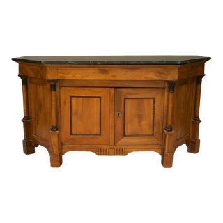 A Lovely Italian Empire Neo-Classic Fruitwood Sideboard Cabinet For Sale