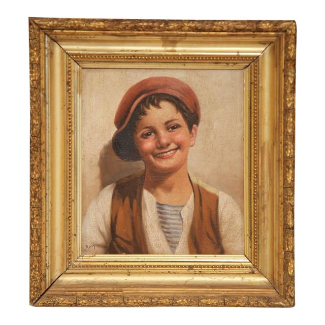 19th Century Italian Portraits Paintings in Gilt Frames Signed Rossi - A Pair For Sale