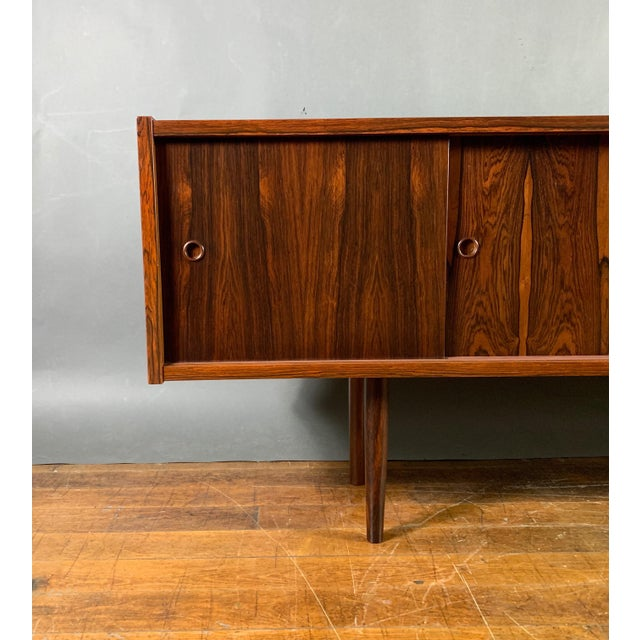 Mid-Century Modern Peter Sorenson Double Low Rosewood Credenza, Denmark 1950s For Sale - Image 3 of 11