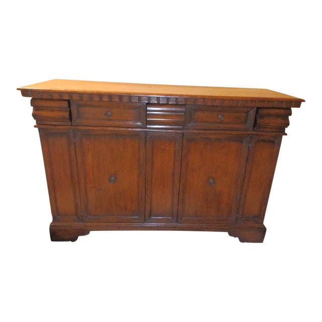 19th Century Spanish Colonial Solid Wood Sideboard For Sale