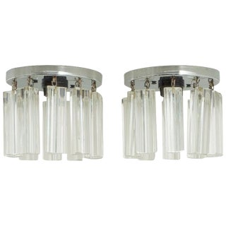Venini Flush Mount Chandeliers - a Pair For Sale