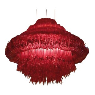 Sneeze a Chandelier in Red Resin by Jacopo Foggini For Sale