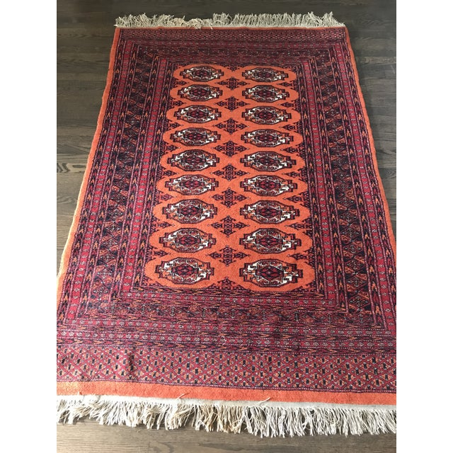 Traditional Hand Knotted Vintage Rug - 4′ × 6′2″ For Sale - Image 3 of 8