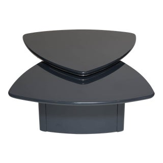 Modern Butterfly Coffee Table In Grey Lacquer