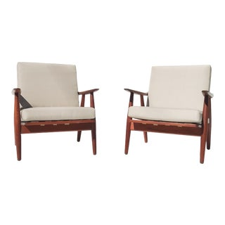 "1950s Hans J Wegner ""Getama 270"" Easy Chairs - a Pair For Sale"