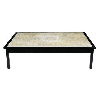 Mother-Of-Pearl Inlay Rectangular Coffee Table For Sale