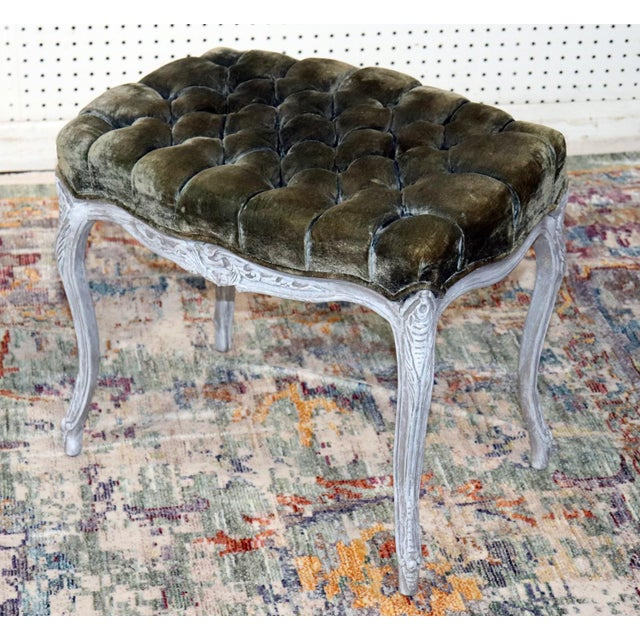French Vintage Louis XV Style Stools - a Pair For Sale - Image 3 of 11