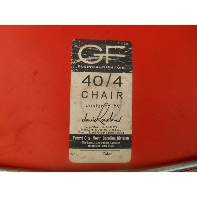 1970s GF Business Furniture 40/4 Orange Chairs - 5 For Sale - Image 5 of 5