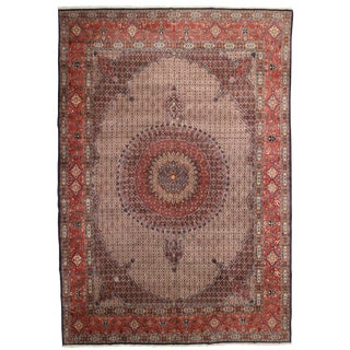 RugsinDallas Vintage Hand Knotted Wool Persian Mood Rug - 11′1″ × 16′1″ For Sale