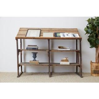 Rustic Barnwood Pine Three Shelf Display Étagère Preview