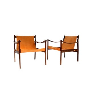 "Vintage Mid Century Jorge Zalszupin for l'Atelier ""720"" Armchairs- A Pair For Sale"