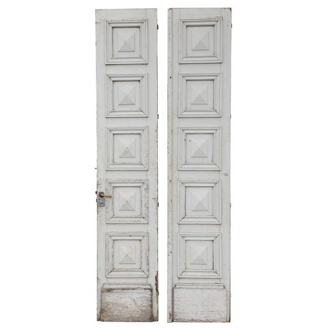White Three Antique French Doors For Sale - Image 8 of 11