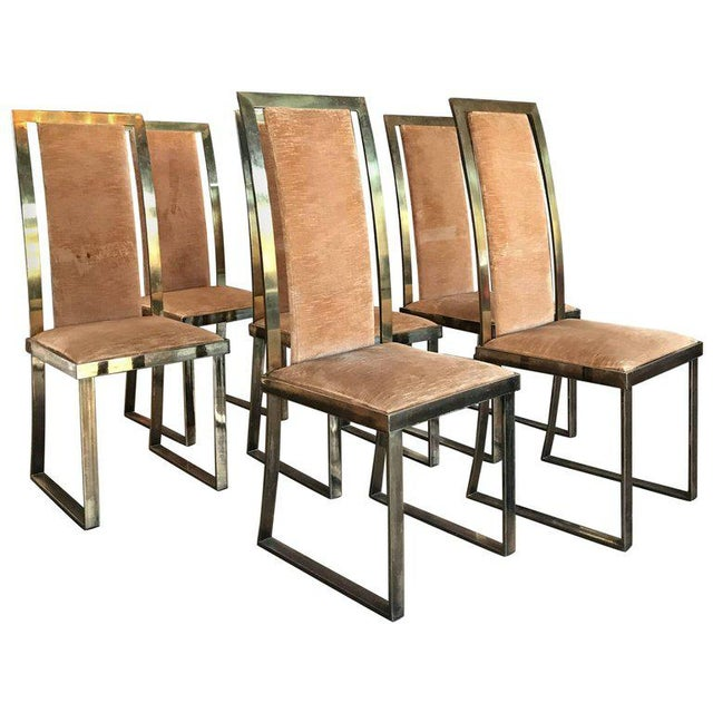 Italian Chairs in Massive Brass, 1960, Set of Four For Sale - Image 10 of 10