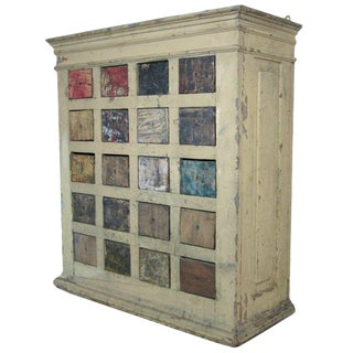 Shabby Chic Pigment Storage Cabinet For Sale