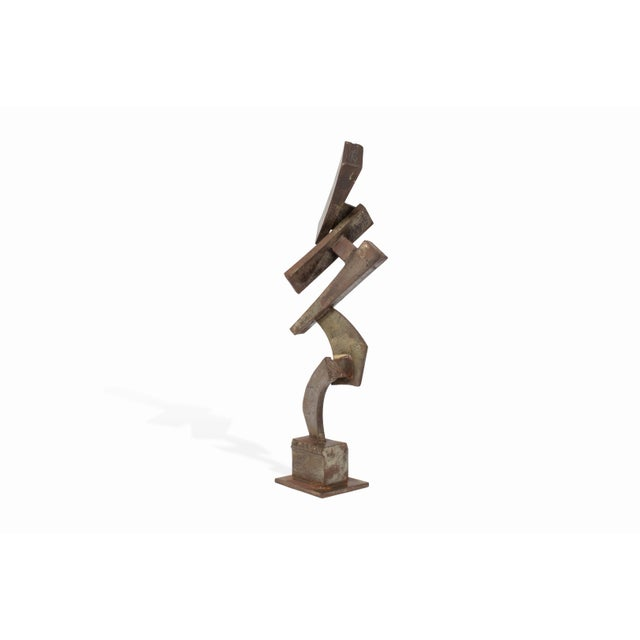Vintage Mid-Century Brutalist Metal Sculpture by Peter Calaboyias For Sale In Los Angeles - Image 6 of 13