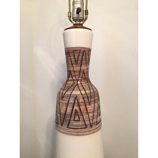 Mid-Century Vontury Porcelain Lamp - Image 5 of 7