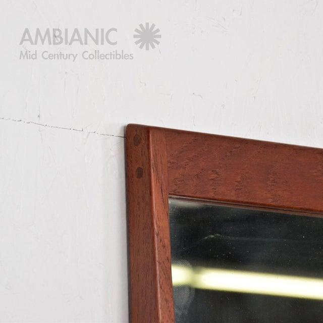 Mid-Century Danish Modern Teak Wall Mirror - Image 7 of 8