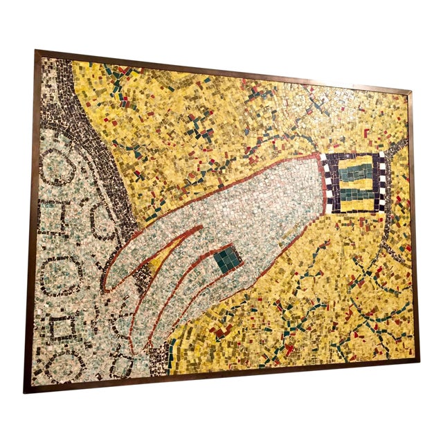 Mid-20th Century Mosaic of Egyptian Hand For Sale