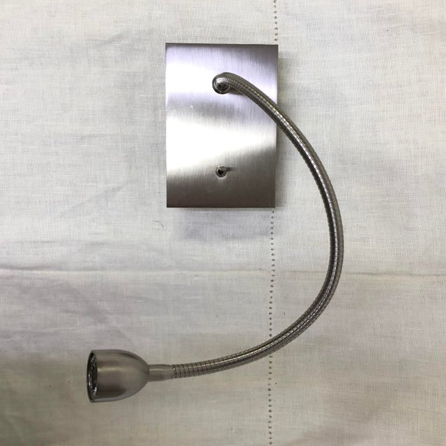 Bover Flexo Wall Light in Satin Nickel For Sale In Washington DC - Image 6 of 6