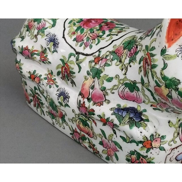 Chinese Ceramic Porcelain Cat Table Sculpture Pillow Sculpture For Sale - Image 11 of 12