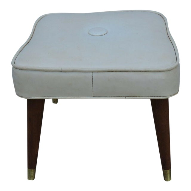 Surprising Mid Century Modern Ottoman Bench Footstool Chairish Creativecarmelina Interior Chair Design Creativecarmelinacom