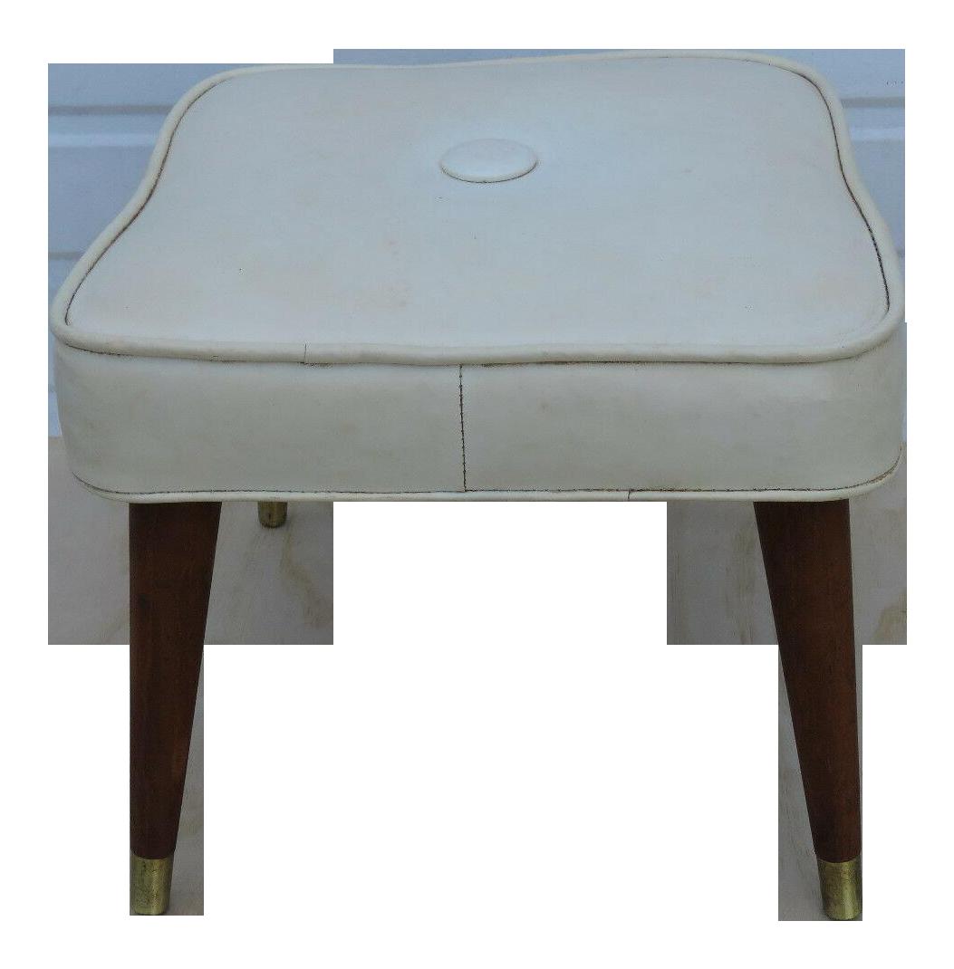 Picture of: Mid Century Modern Ottoman Bench Footstool Chairish
