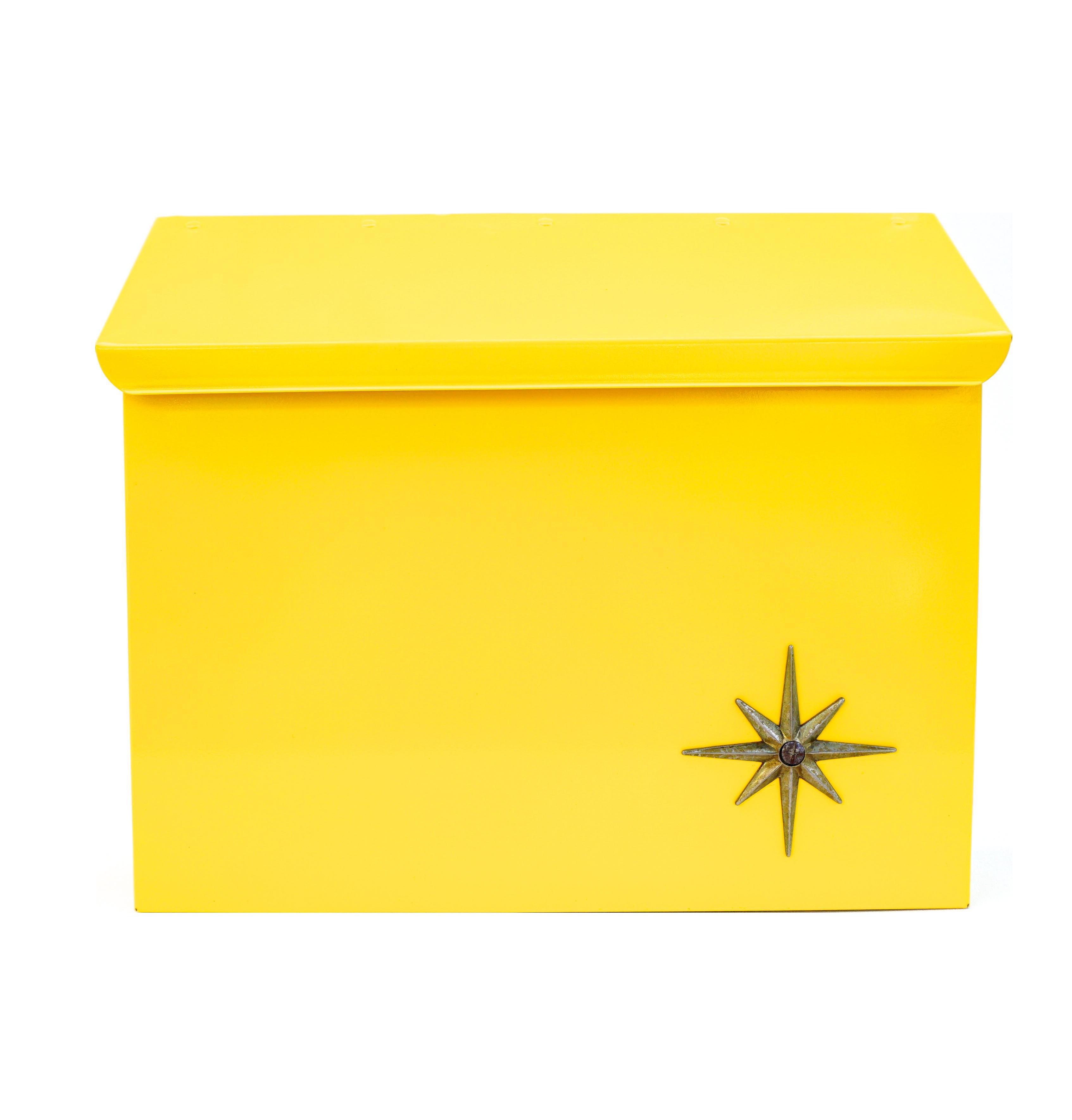 modern wall mount mailbox. Mid-Century Modern Yellow Metal Atomic Starburst Wall Mount Mailbox