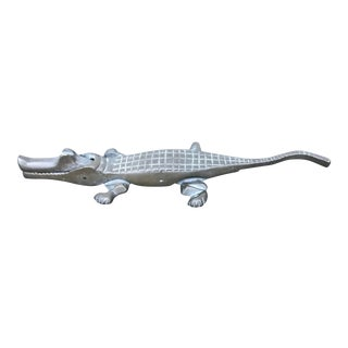 1960s Figurative Brass Alligator Nutcracker For Sale