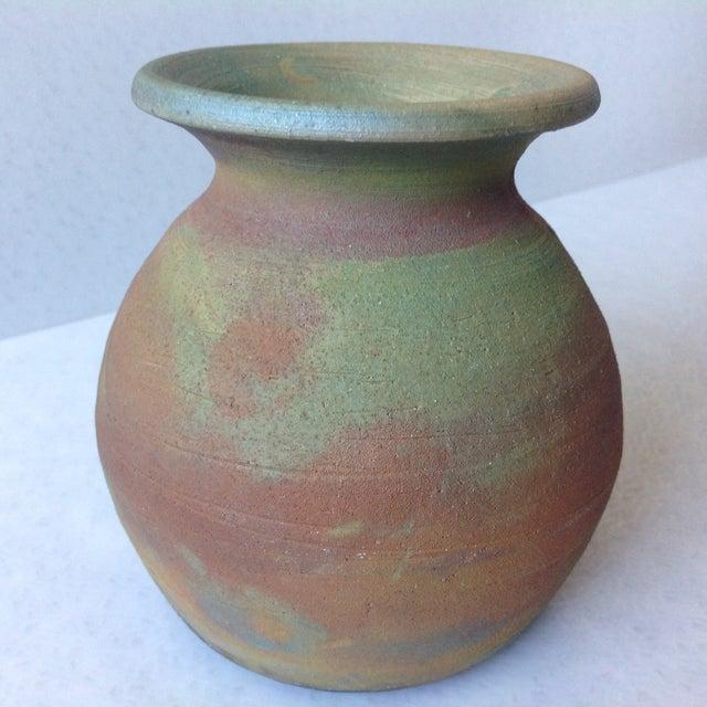 Earth Tone Raku Pottery Vase - Image 5 of 11