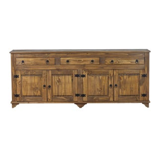 Lisa 4 Door Buffet Cabinet in Dark Honey
