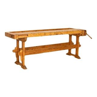 Long Narrow Antique Carpenter's Workbench For Sale