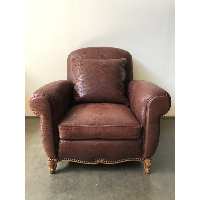 Ralph Lauren Home Marseilles Leather Club Chair For Sale - Image 10 of 10