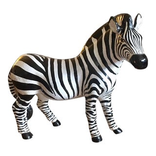 Italian Terra Cotta Zebra For Sale