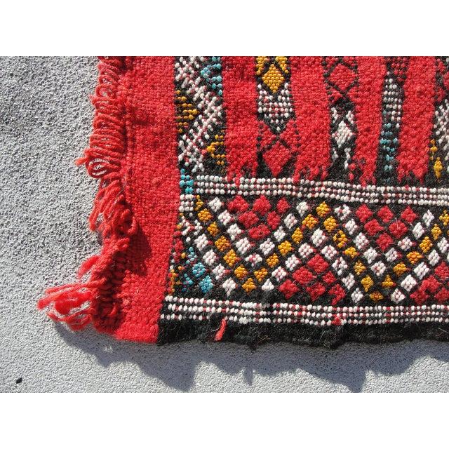 "Red Moroccan Tribal Kilim Rug - 2'7"" X 4' - Image 4 of 6"