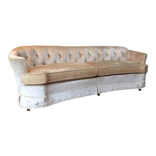 Vintage Paoletti Period Furniture Velvet Couch