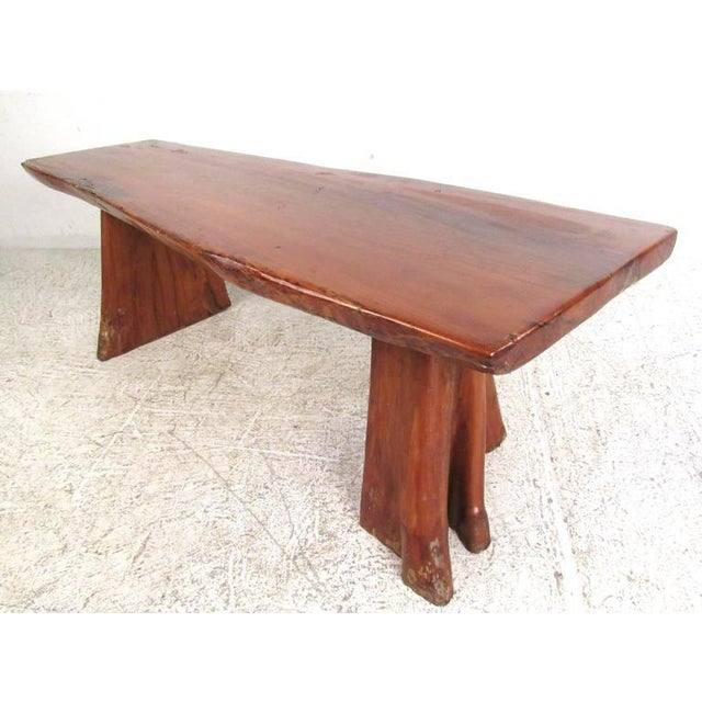 Live Edge Tree Slab Coffee Table or Bench For Sale - Image 11 of 11