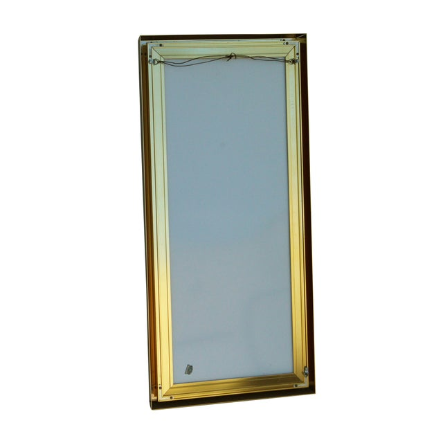 1970s Rectangular Goldtone Mirror For Sale - Image 5 of 7