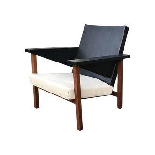1940s Teak Dutch Modernist Armchair by j.r. Bouten For Sale
