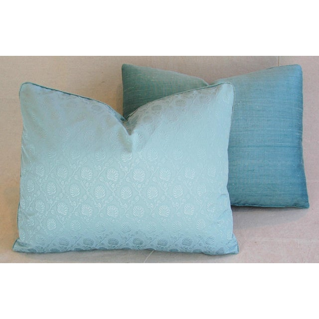 Powder Blue French Lelievre of Paris Pillows - a Pair - Image 8 of 11