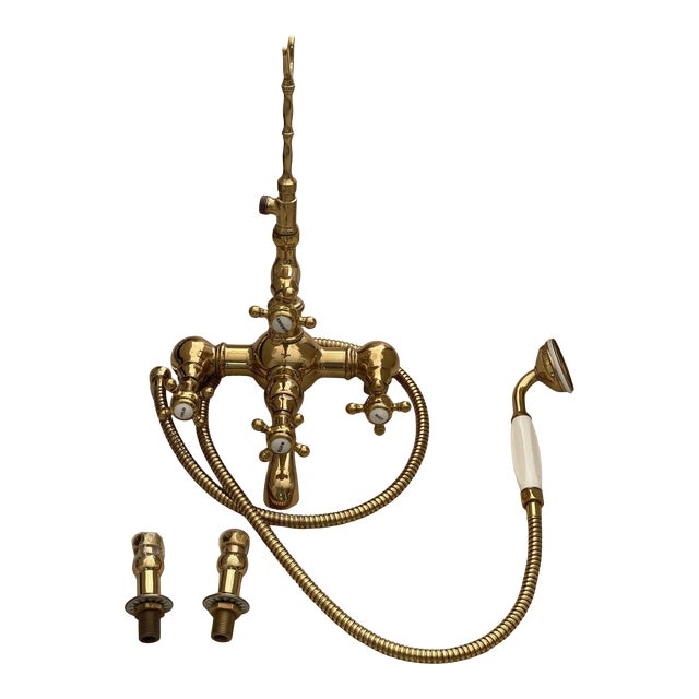 French Style Telephone Shower Head With Bathtub Diverter For Sale