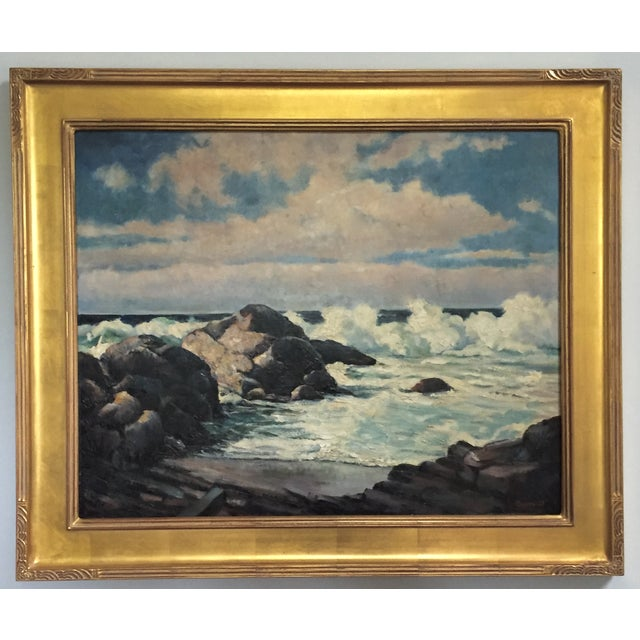 Vintage California Seascape by Greenwood - Image 2 of 7