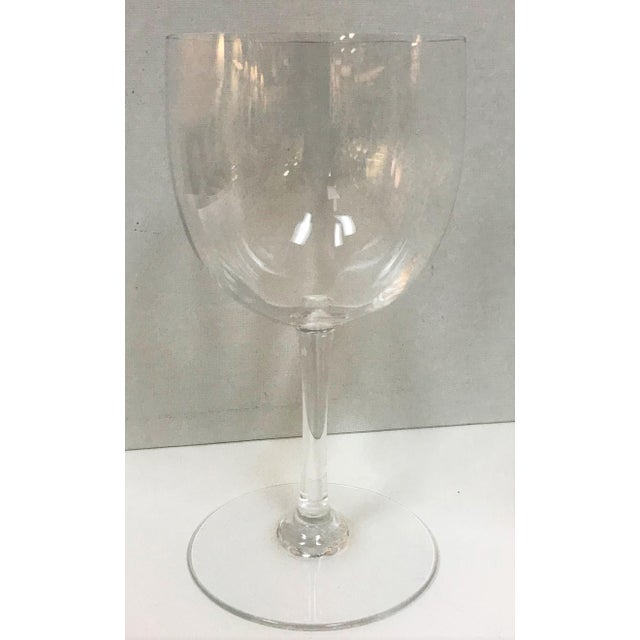 Glass Baccarat Montaigne Optic Crystal Wine Glasses Goblets- Set of 10 For Sale - Image 7 of 13
